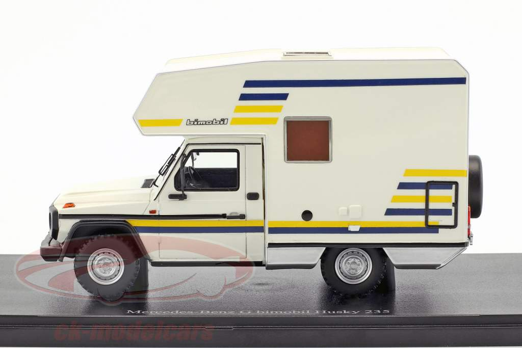Mercedes-Benz G bimobil Husky anno di costruzione 1984 bianco 1:43 AutoCult