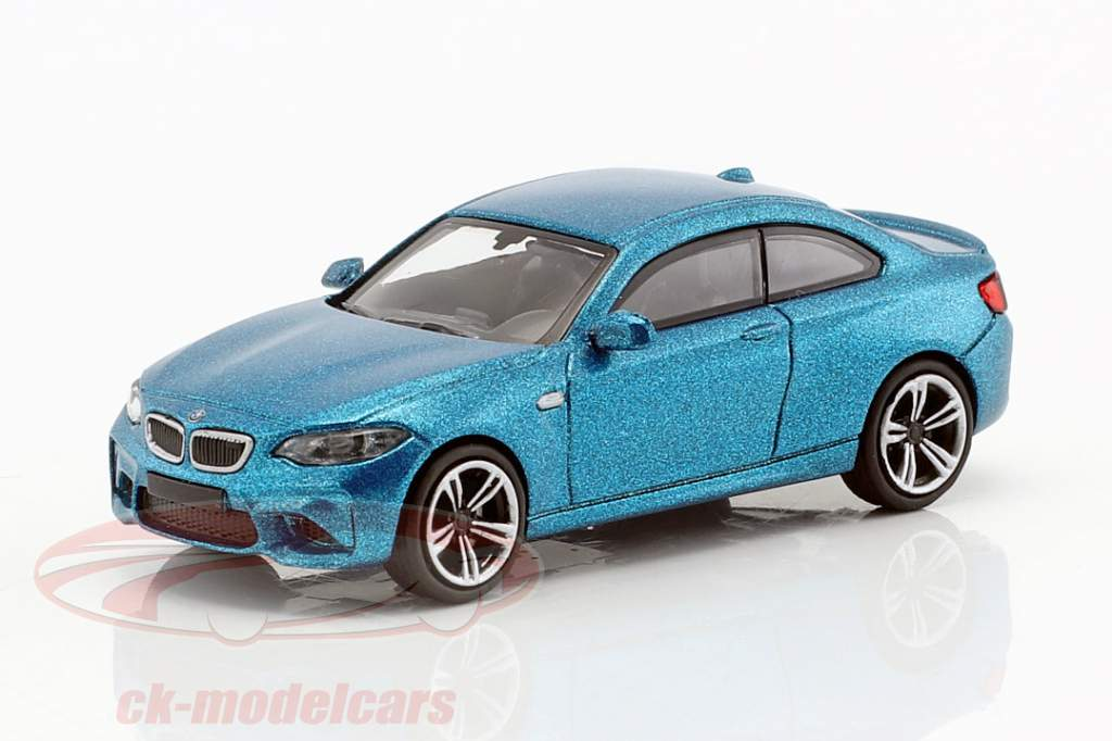 BMW M2 anno di costruzione 2016 blu metallico 1:87 Minichamps