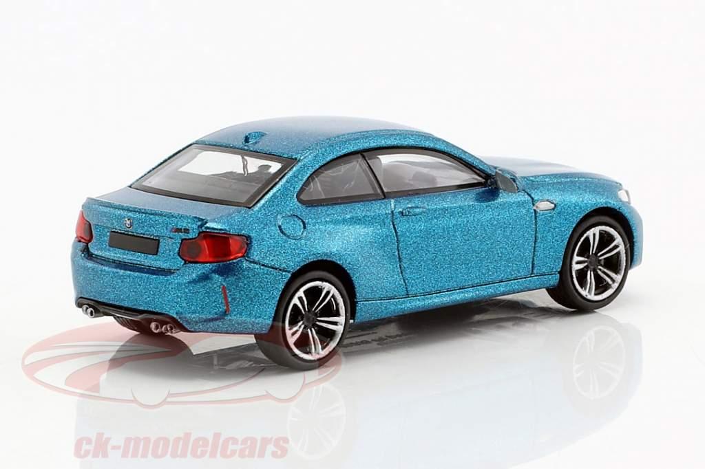 BMW M2 année de construction 2016 bleu métallique 1:87 Minichamps