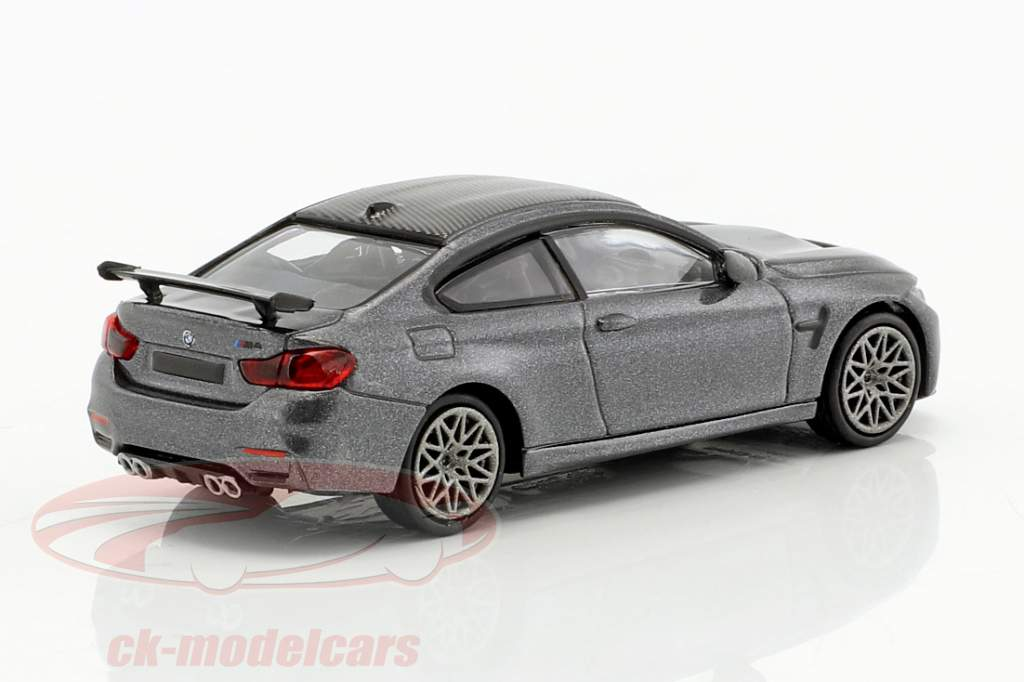 BMW M4 GTS year 2016 gray metallic / gray 1:87 Minichamps