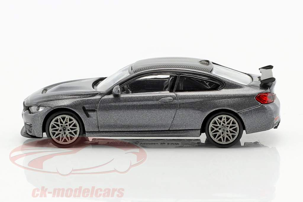 BMW M4 GTS anno di costruzione 2016 grigio metallico / grigio 1:87 Minichamps