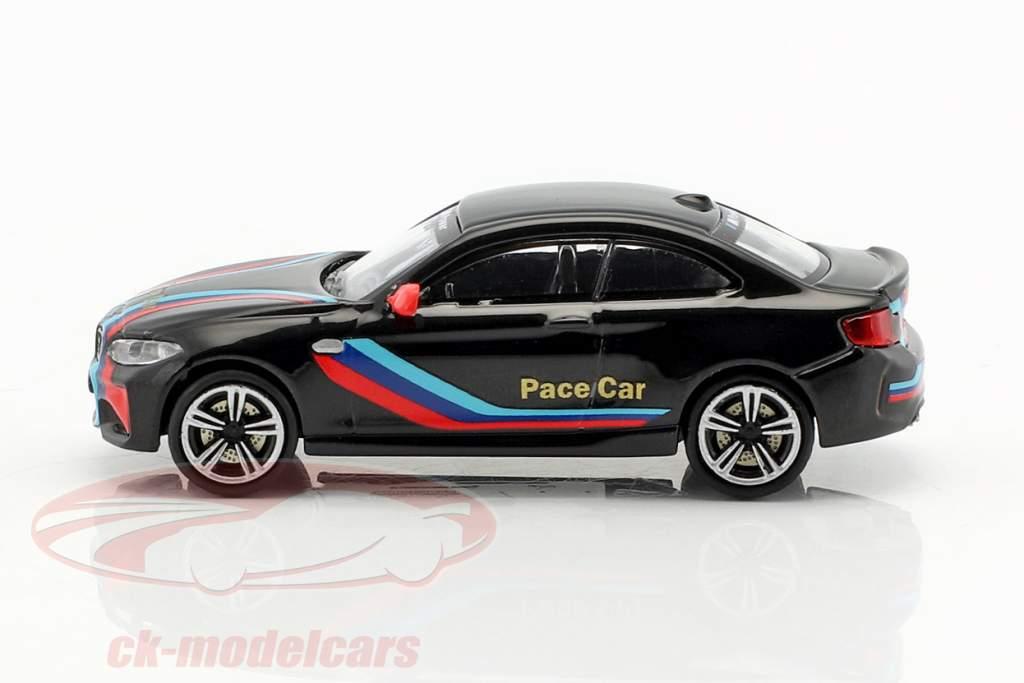 BMW M2 Pace Car 2016 noir 1:87 Minichamps