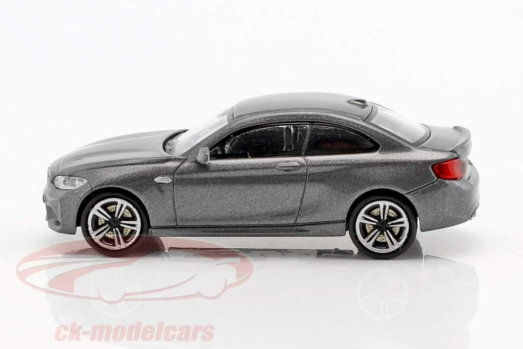 BMW M2 anno di costruzione 2016 grigio metallico 1:87 Minichamps
