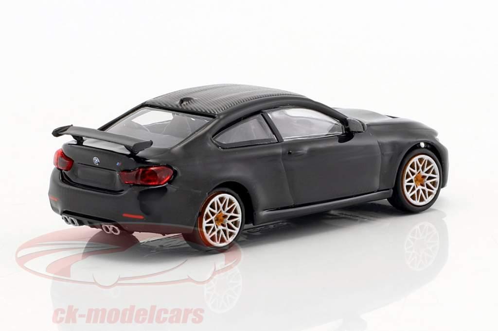 BMW M4 GTS année de construction 2016 noir métallique / orange 1:87 Minichamps