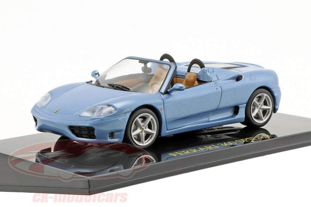 Ferrari 360 Spider azul com mostruário 1:43 Altaya