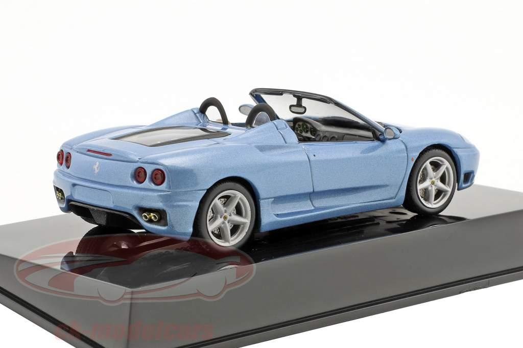 Ferrari 360 Spider blauw met vitrine 1:43 Altaya