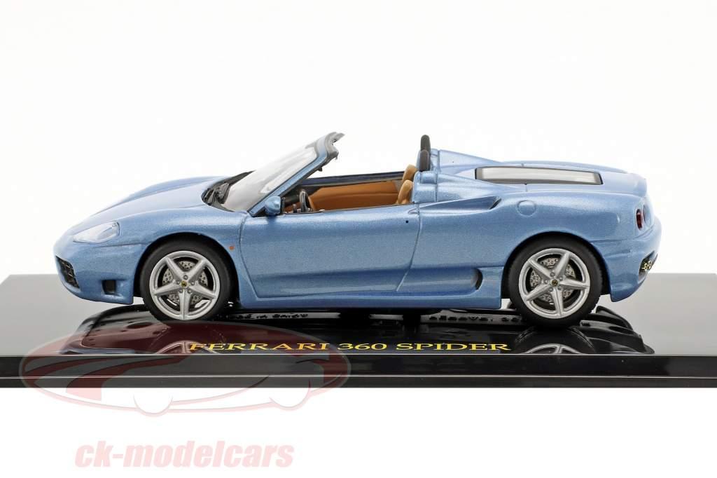 Ferrari 360 Spider azul con escaparate 1:43 Altaya