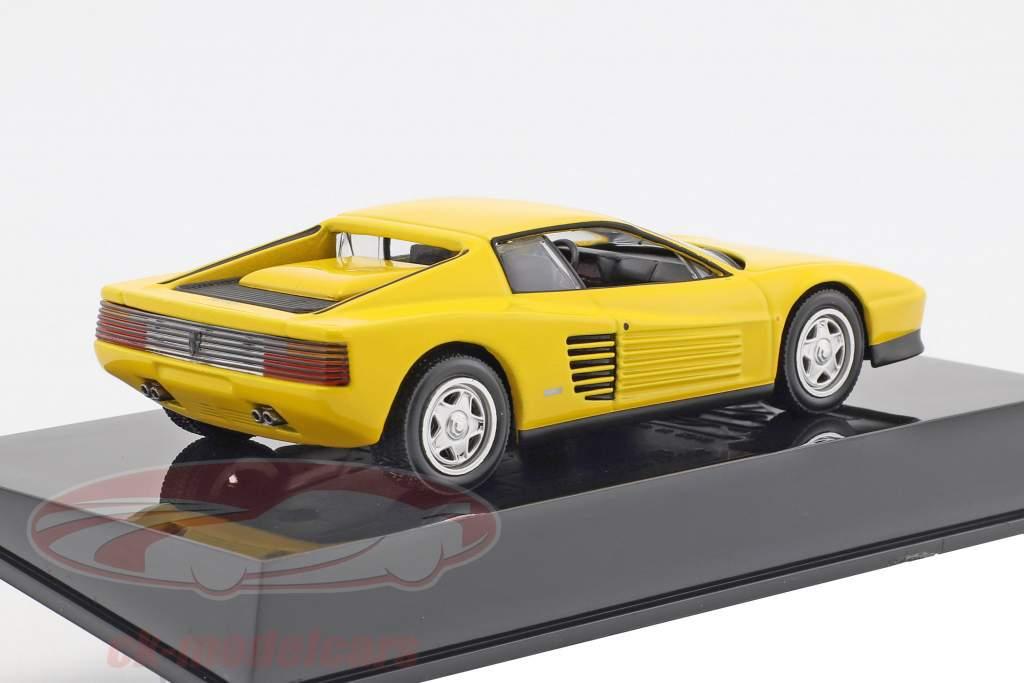 Ferrari Testarossa jaune avec vitrine 1:43 Altaya