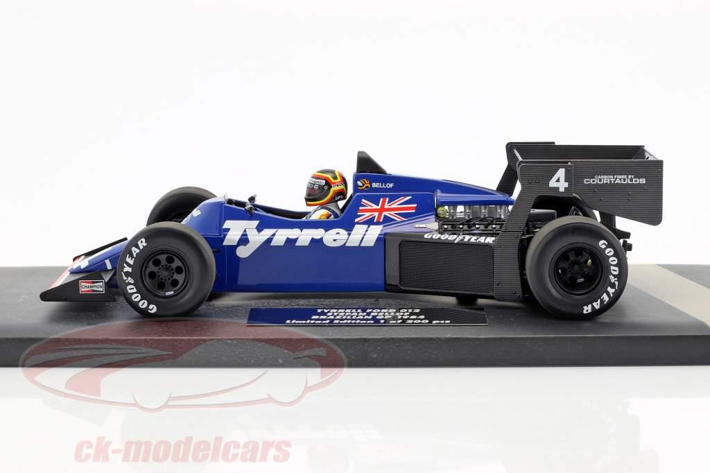 Stefan Bellof Tyrrell 012 #4 Brésil GP formule 1 1984 avec chapeau 1:18 Minichamps