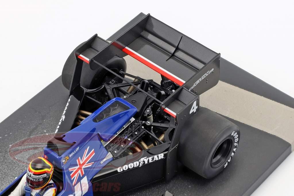 Stefan Bellof Tyrrell 012 #4 Brasilien GP formel 1 1984 med kasket 1:18 Minichamps