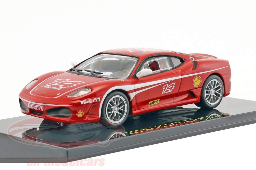 Ferrari F430 Challenge #14 rood met vitrine 1:43 Altaya
