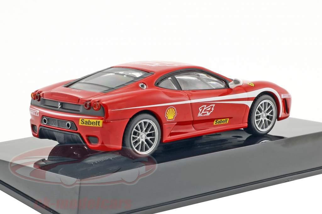 Ferrari F430 Challenge #14 rojo con escaparate 1:43 Altaya