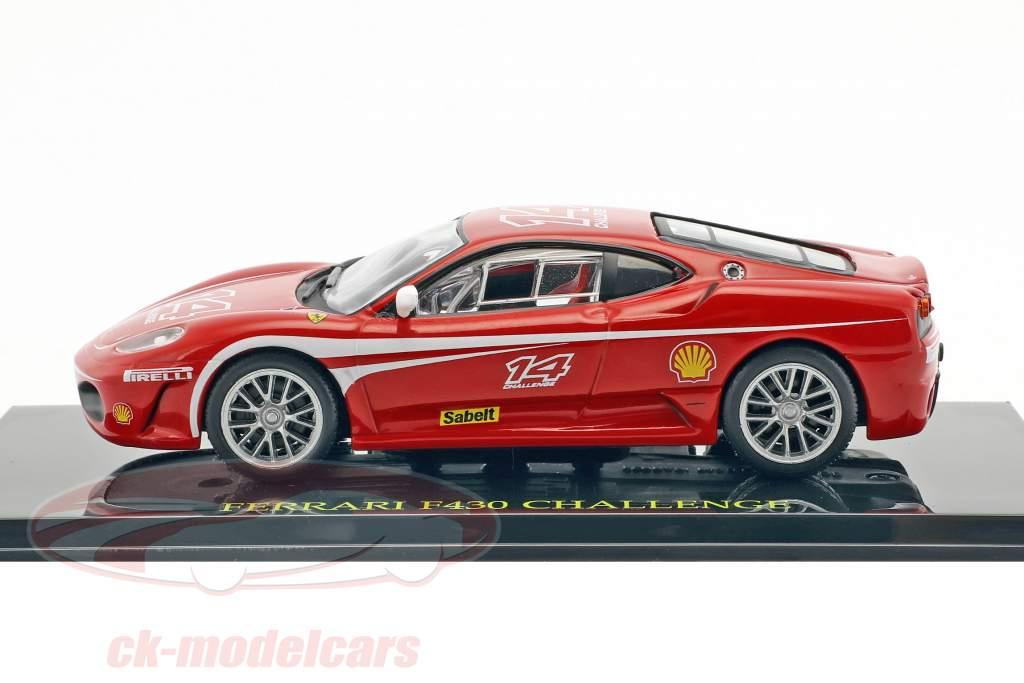 Ferrari F430 Challenge #14 vermelho com mostruário 1:43 Altaya