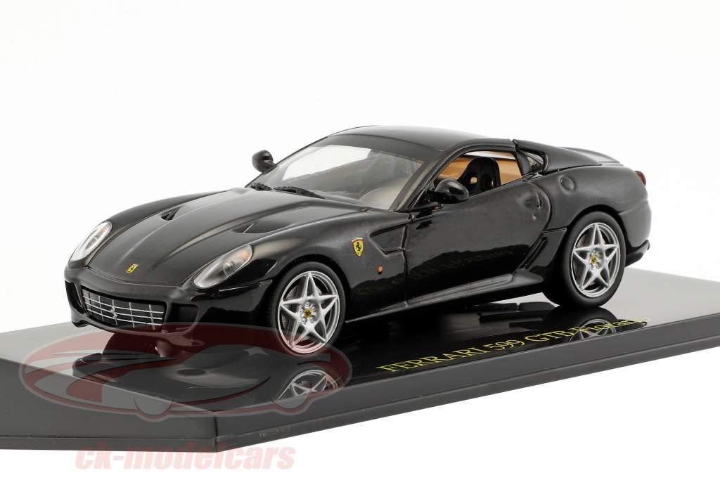 Ferrari 599 GTB Fiorano sort med udstillingsvindue 1:43 Altaya