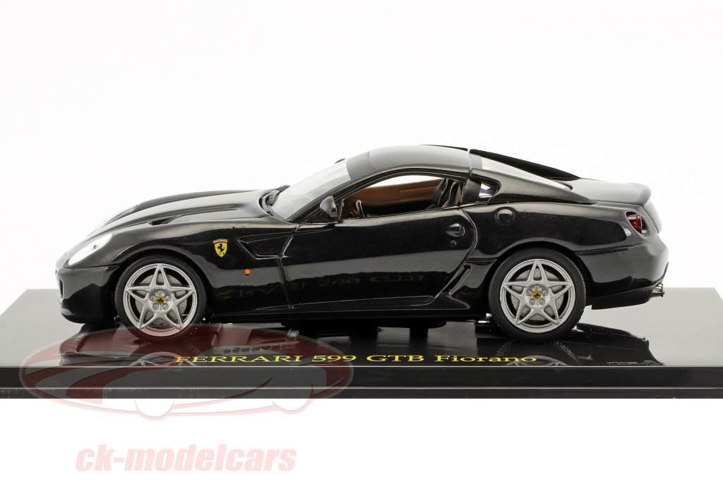 Ferrari 599 GTB Fiorano negro con escaparate 1:43 Altaya