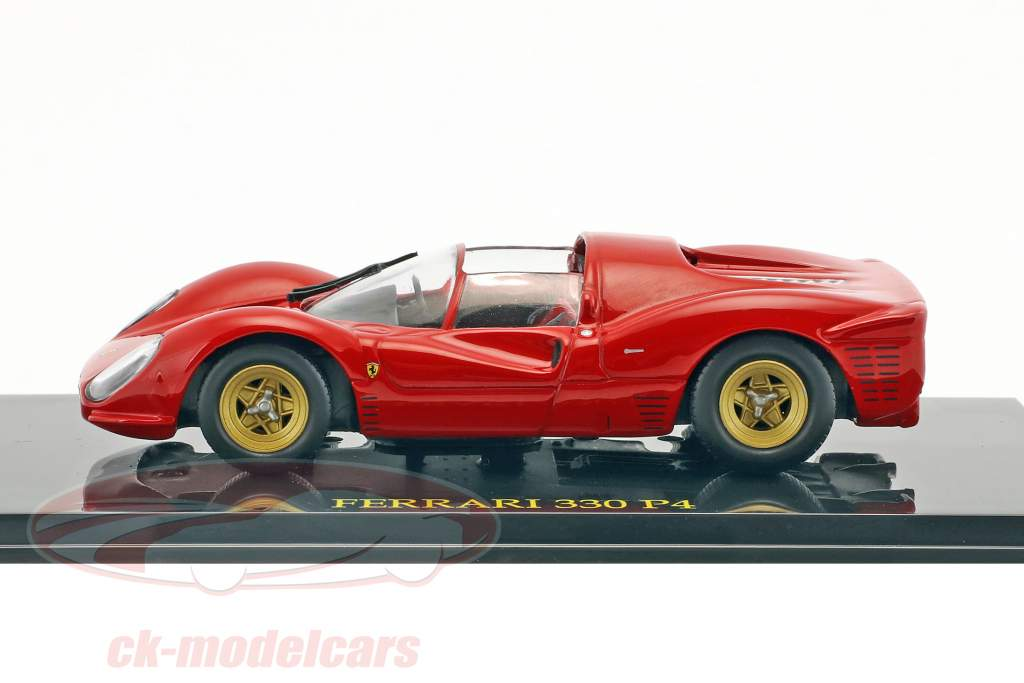 Ferrari 330 P4 rot mit Vitrine 1:43 Altaya