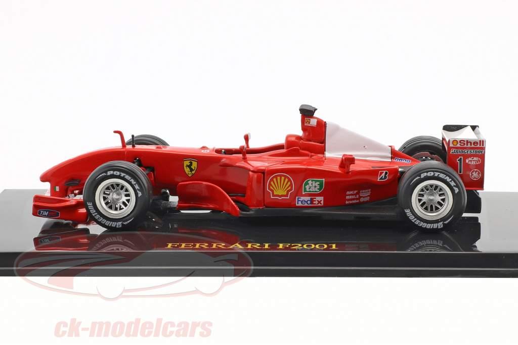M. Schumacher Ferrari F2001 #1 campione del mondo formula 1 2001 con vetrina 1:43 Altaya
