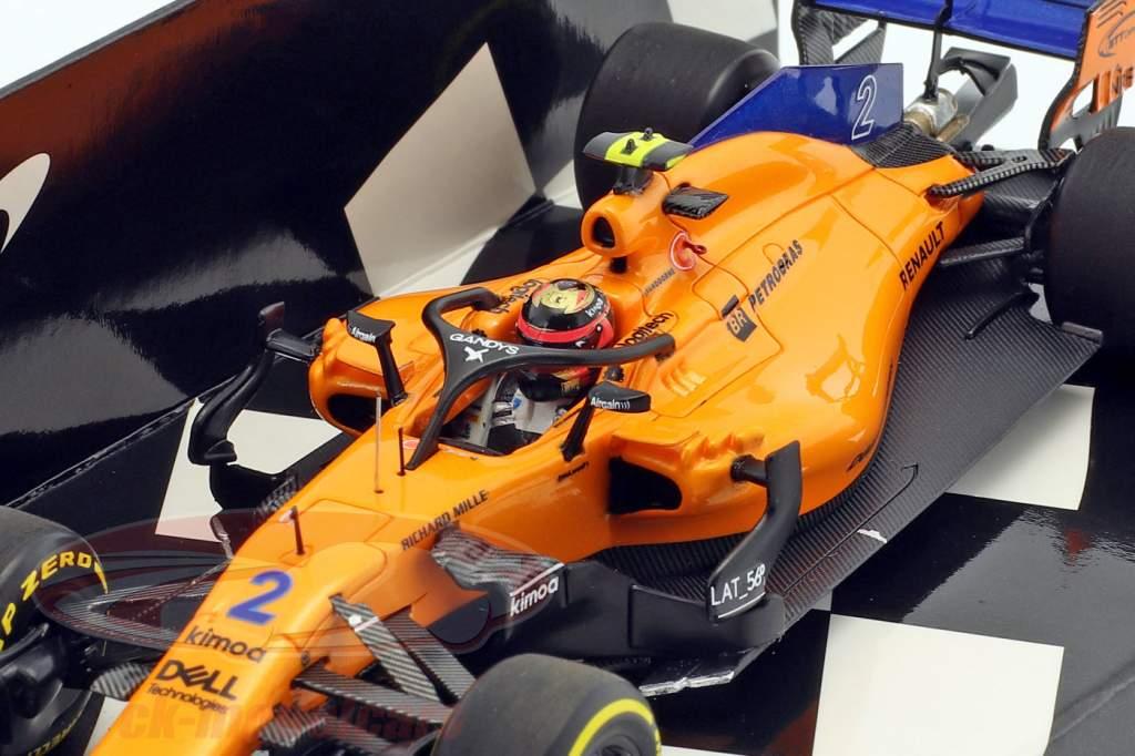 Stoffel Vandoorne McLaren F1 Team #2 formule 1 2018 showcar 1:43 Minichamps