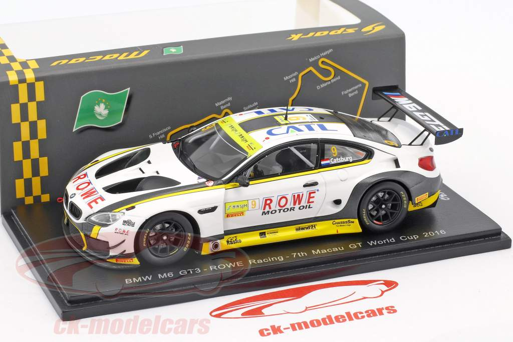 BMW M6 GT3 #9 7 ° FIA GT World Cup Macau 2017 Nicky Catsburg 1:43 Spark