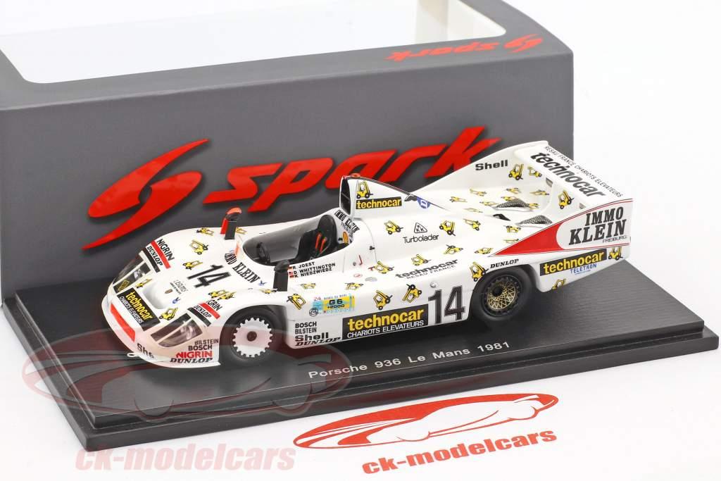 Porsche 908/80 #14 24h LeMans 1981 Joest, Whittington, Niedzwiedz 1:43 Spark