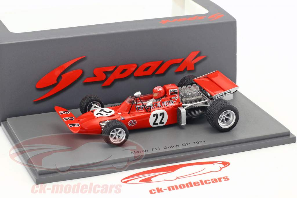 Skip Barber March 711 #22 Paesi Bassi GP formula 1 1971 1:43 Spark