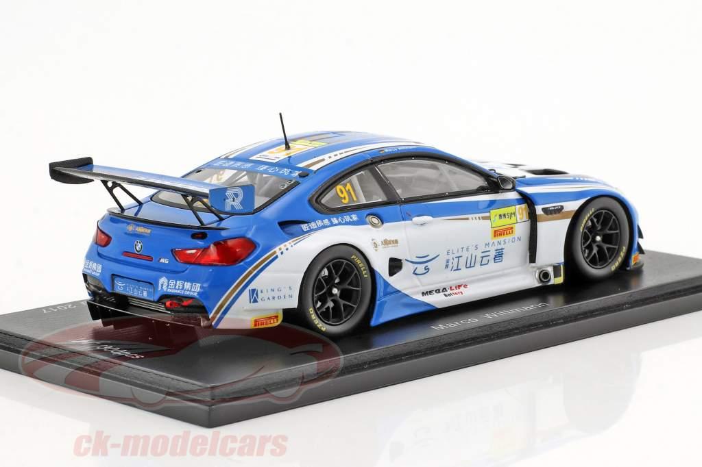 BMW M6 GT3 #91 6 FIA GT World Cup Macau 2017 Marco Wittmann 1:43 Spark