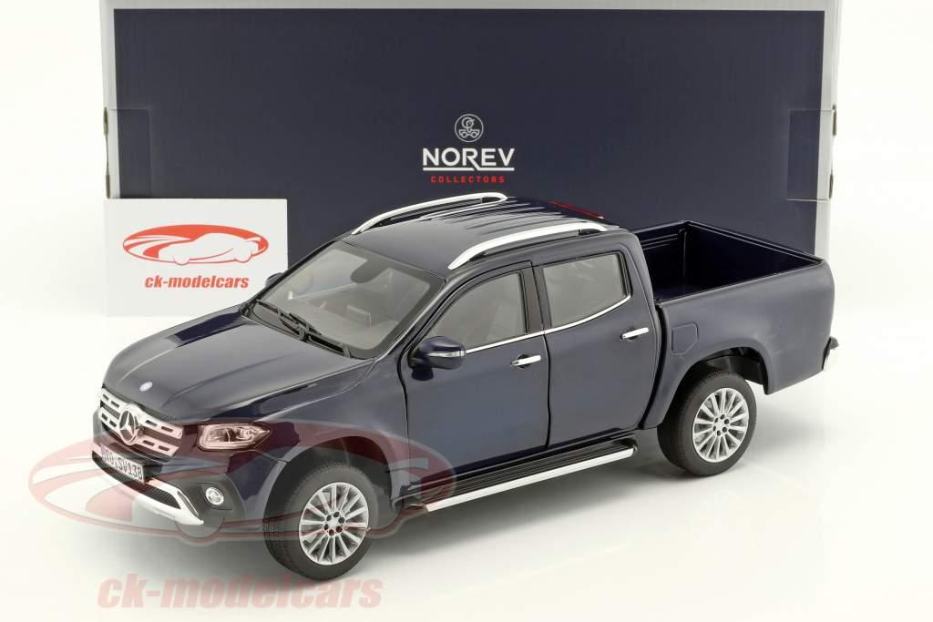 Mercedes-Benz X-Class año de construcción 2017 azul metálico 1:18 Norev