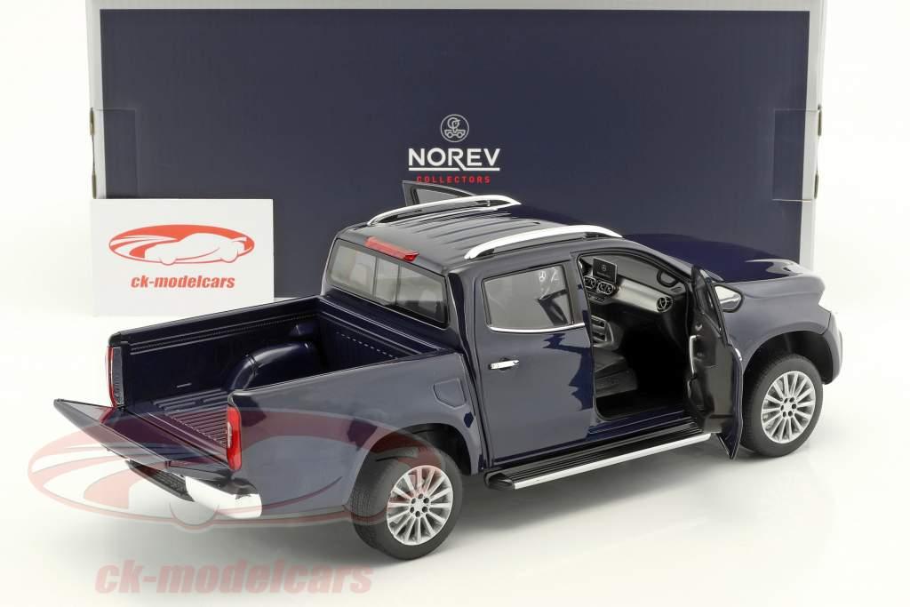 Mercedes-Benz Classe X année de construction 2017 bleu métallique 1:18 Norev