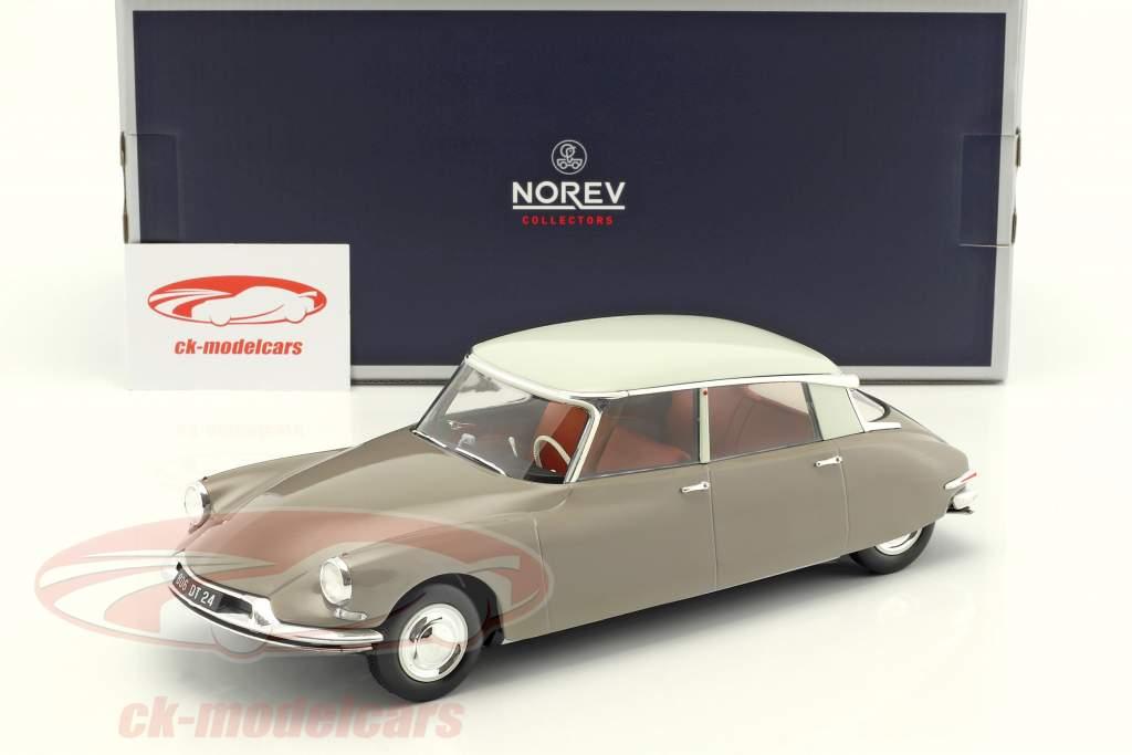 Citroen DS 19 Baujahr 1959 hellbraun 1:18 Norev