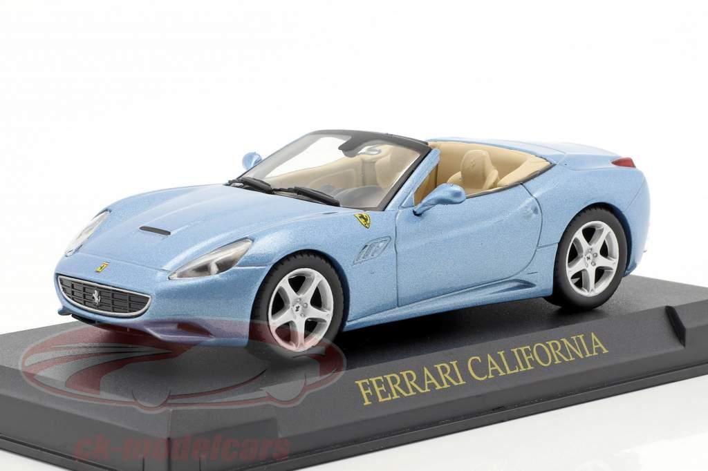 Ferrari California Year 2008 light blue metallic 1:43 Altaya