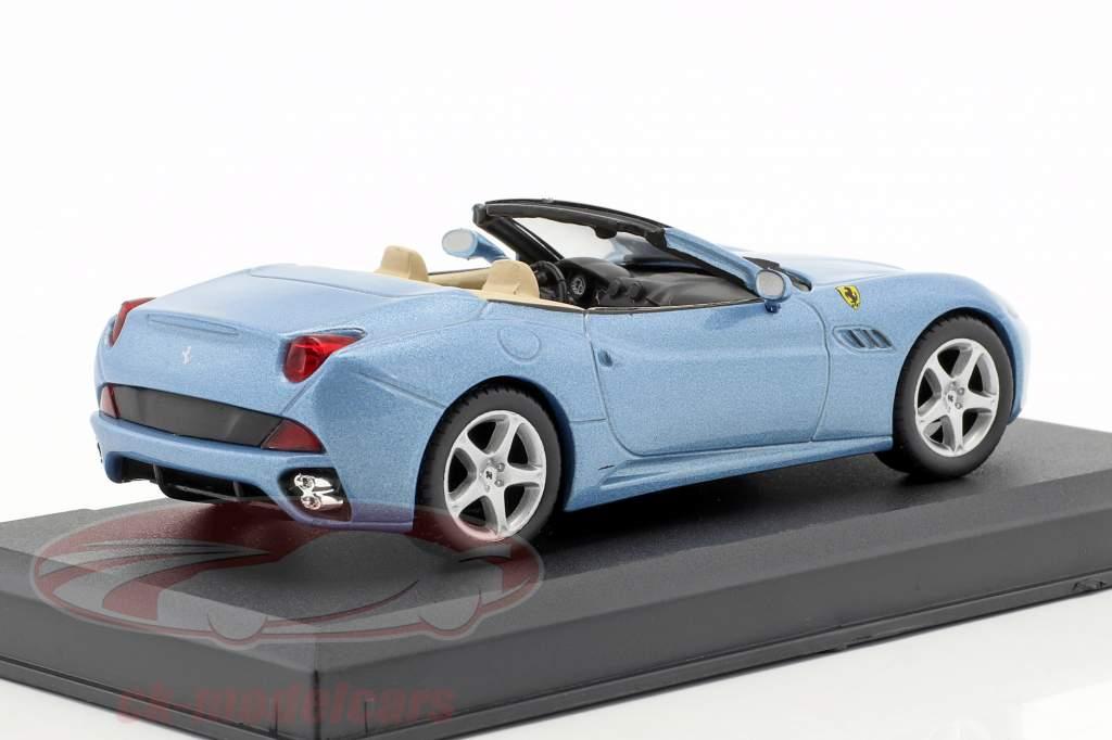 Ferrari California año 2008 azul claro metálico 1:43 Altaya