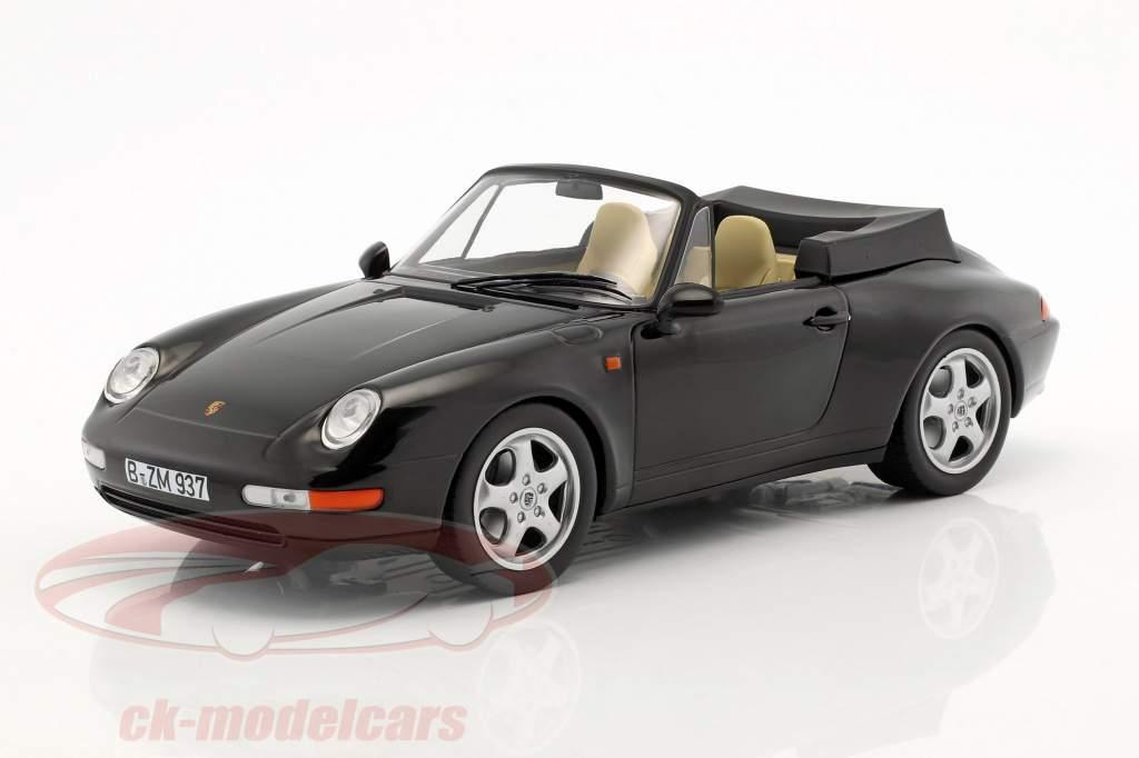 Porsche 911 (993) Carrera Cabriolet year 1993 black 1:18 Norev