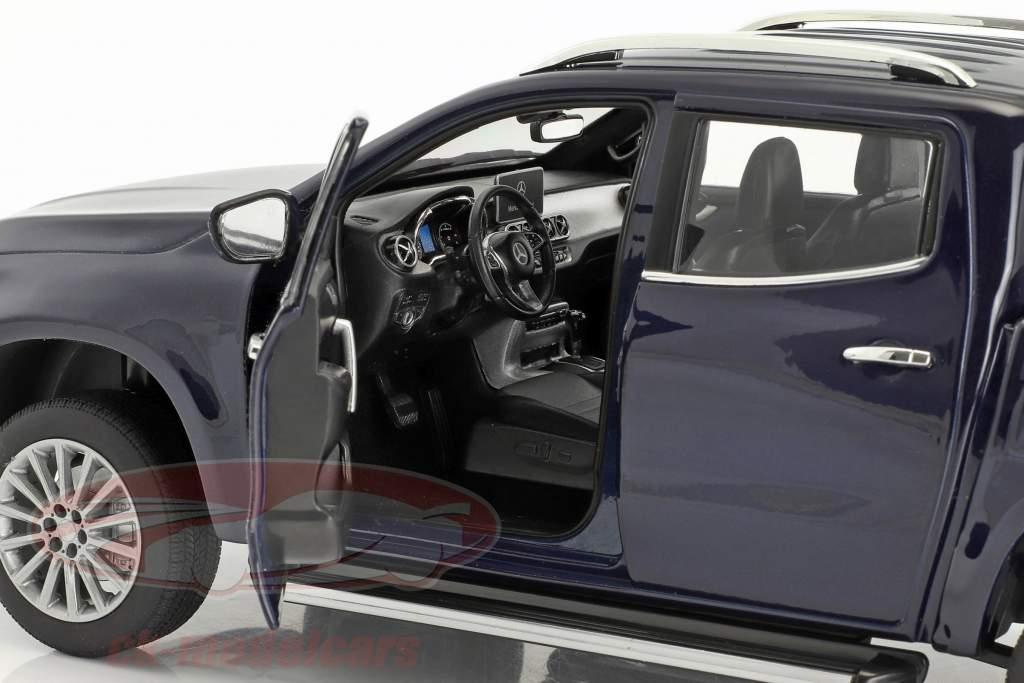 Mercedes-Benz X-Klasse Bouwjaar 2017 blauw metalen 1:18 Norev