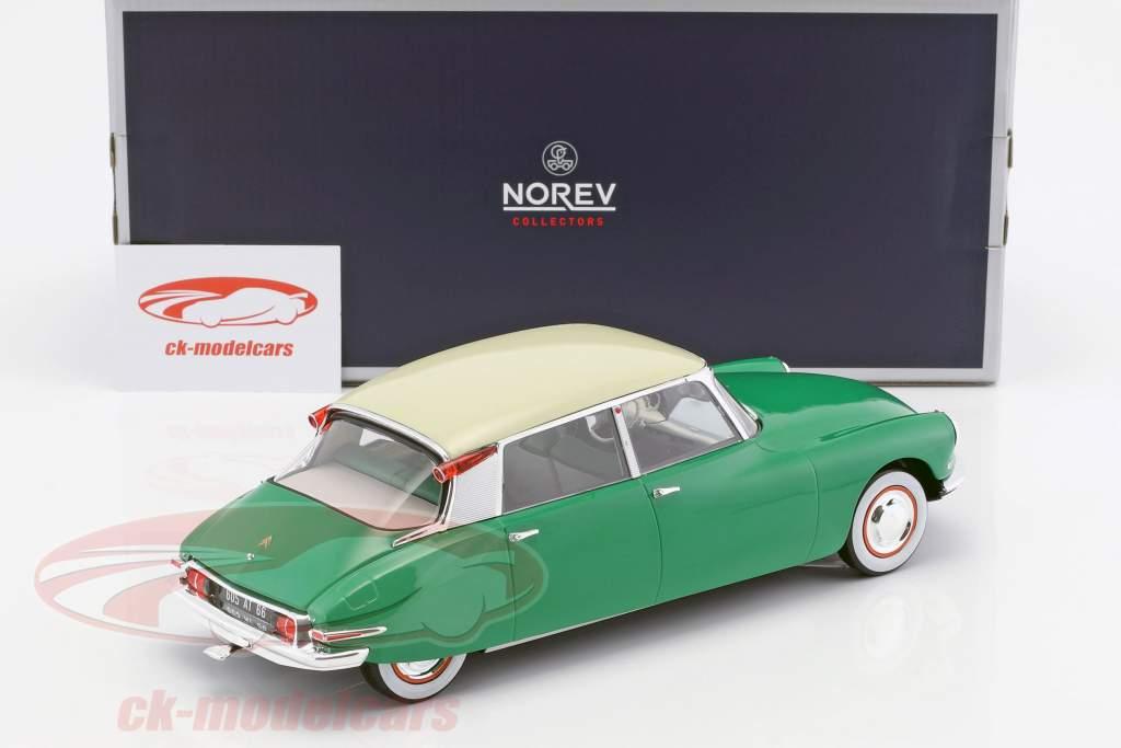 Citroen DS 19 year 1956 green 1:18 Norev