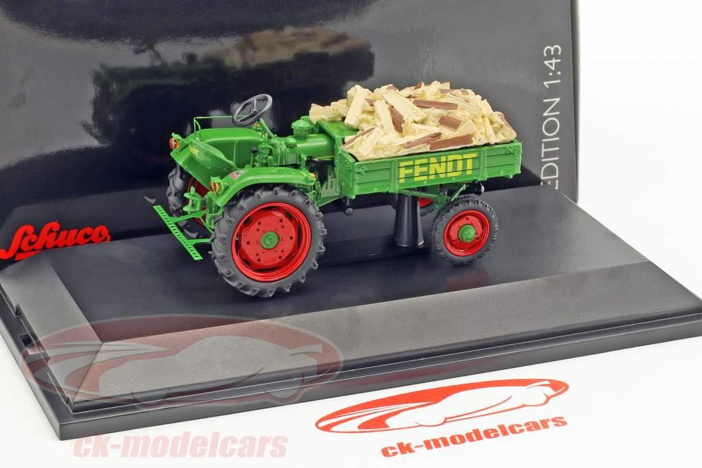 Fendt Geräteträger Scheitholz grün 1:43 Schuco