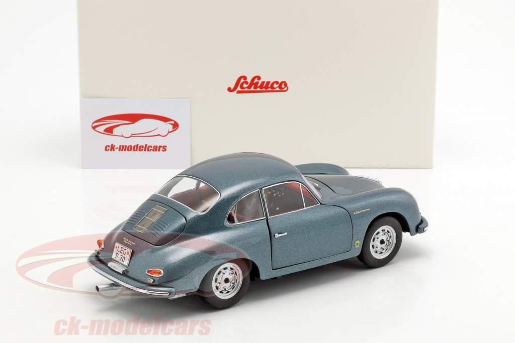 Porsche 356 A Carrera Coupe 70 years Porsche blue metallic 1:18 Schuco