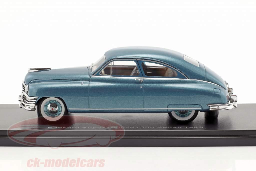 Packard Super Deluxe Club Sedan year 1949 turquoise metallic 1:43 Neo