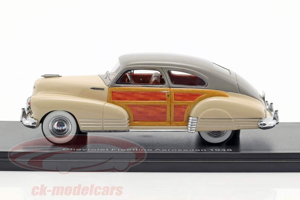 Chevrolet Fleetline Aerosedan Baujahr 1948 beige 1:43 Neo
