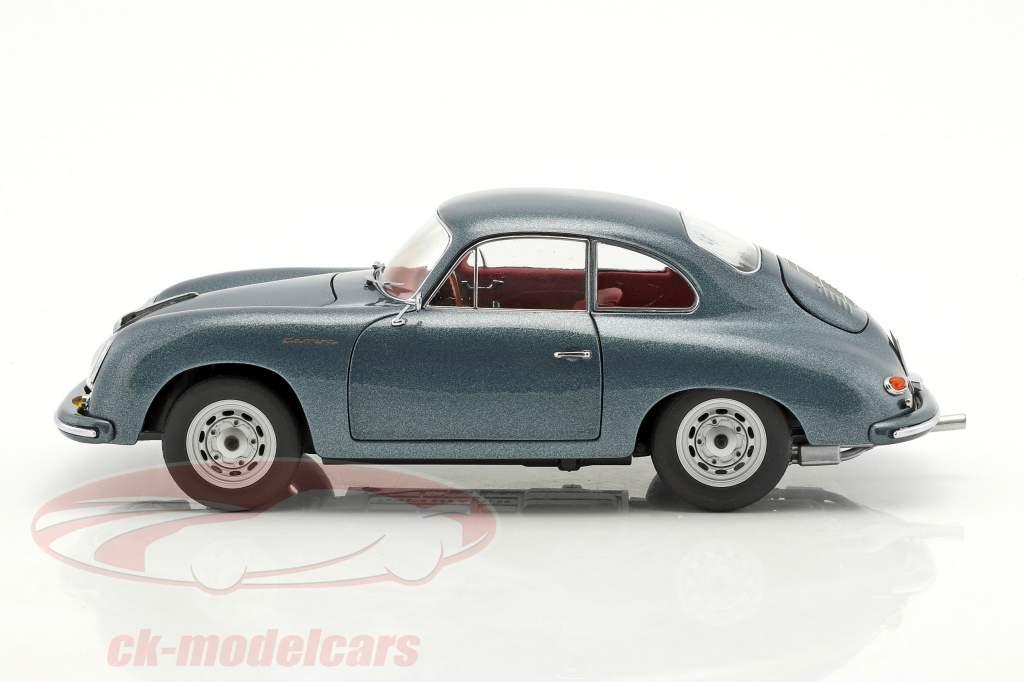 Porsche 356 A Carrera Coupe 70 anni Porsche blu metallico 1:18 Schuco