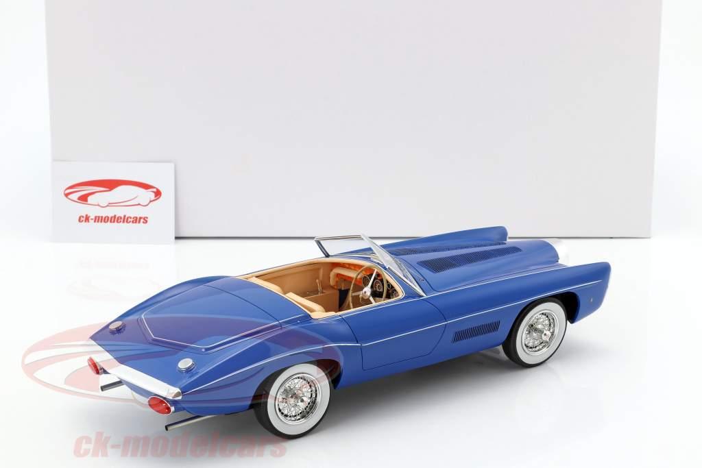 Bugatti T101C Exner-Ghia Spider Bouwjaar 1966 blauw 1:18 Matrix