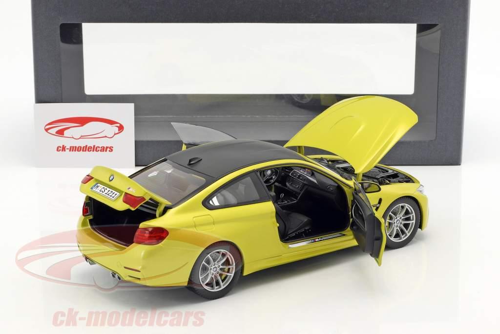 BMW M4 Coupé (F82) austin amarillas 1:18 ParagonModels