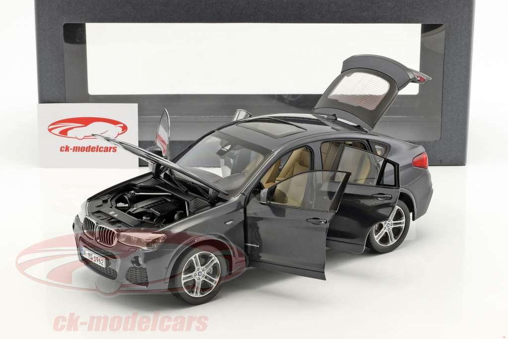 BMW X4 F26 Jaar 2014 Sophisto grijs metalen 1:18 ParagonModels