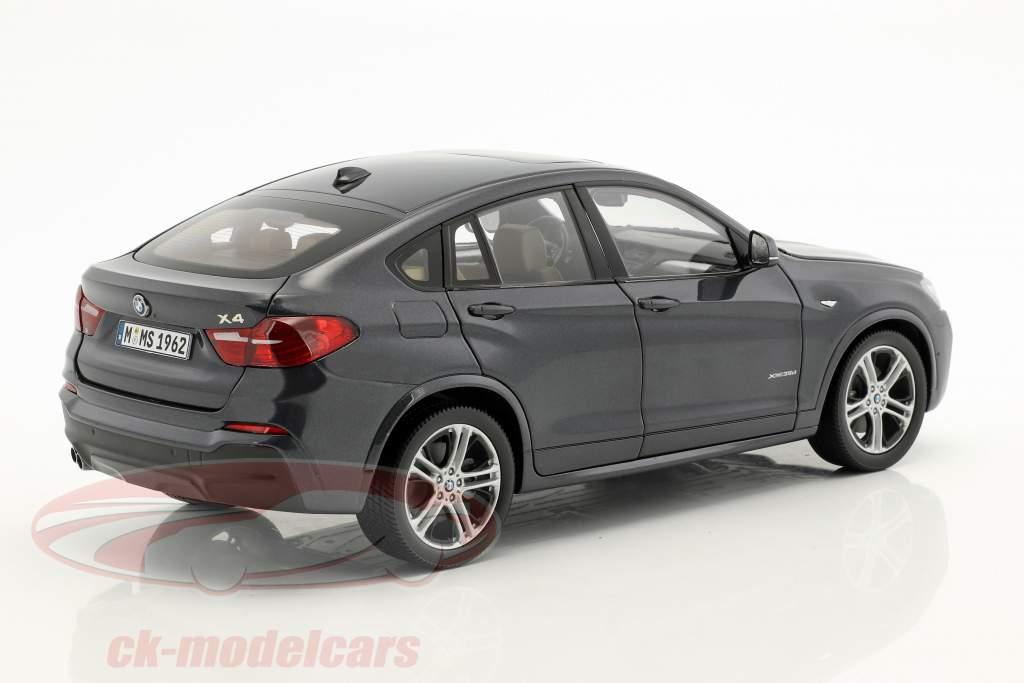 BMW X4 F26 År 2014 Sophisto grå metalliske 1:18 ParagonModels