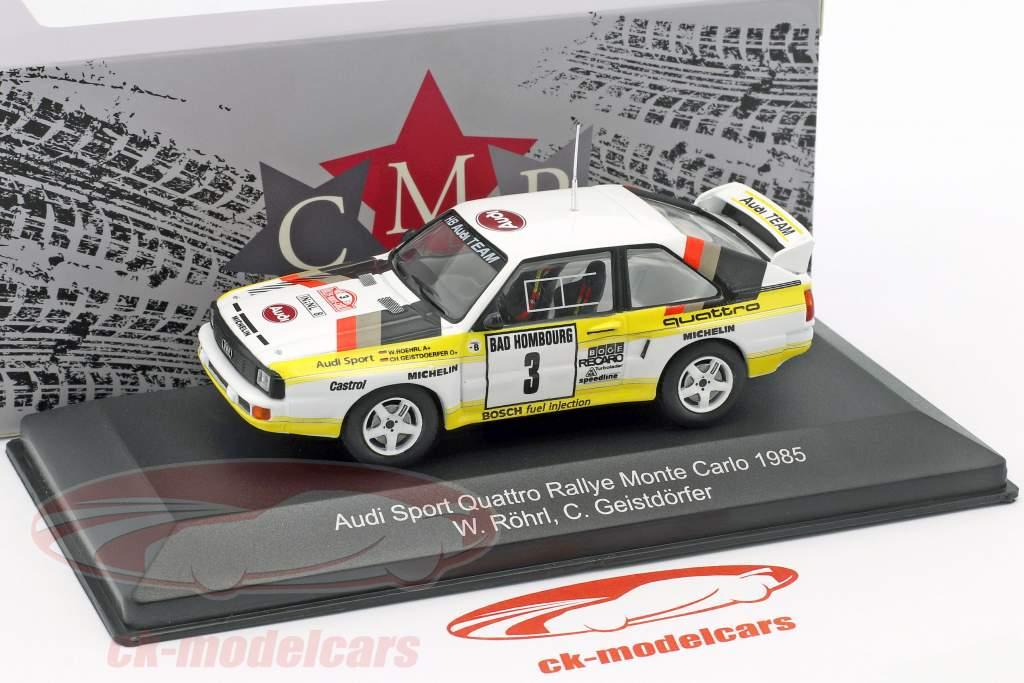 Audi Sport Quattro #3 2e Rallye Monte Carlo 1985 Röhrl, Geistdörfer 1:43 CMR