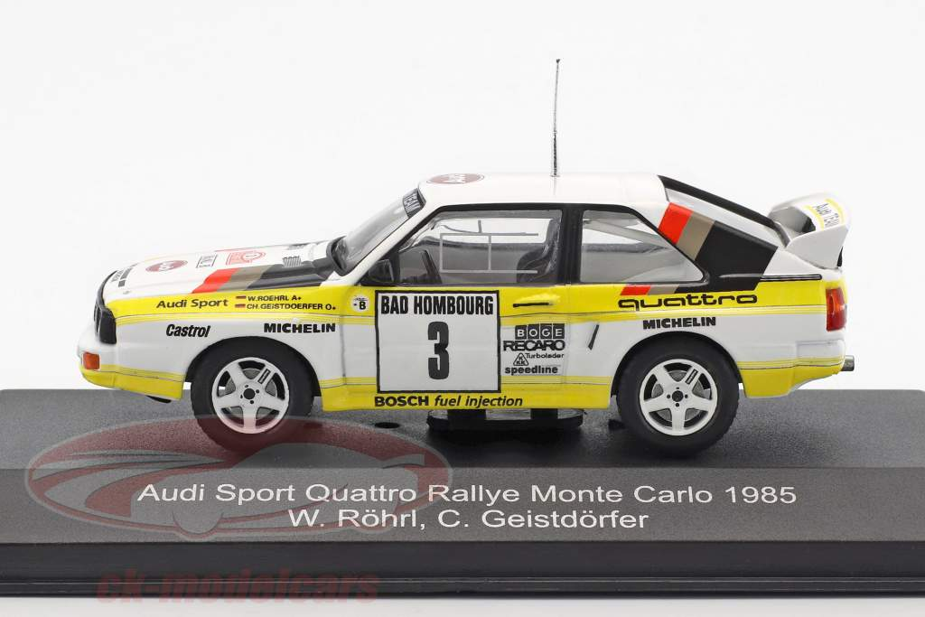 Audi Sport Quattro #3 segundo Rallye Monte Carlo 1985 Röhrl, Geistdörfer 1:43 CMR