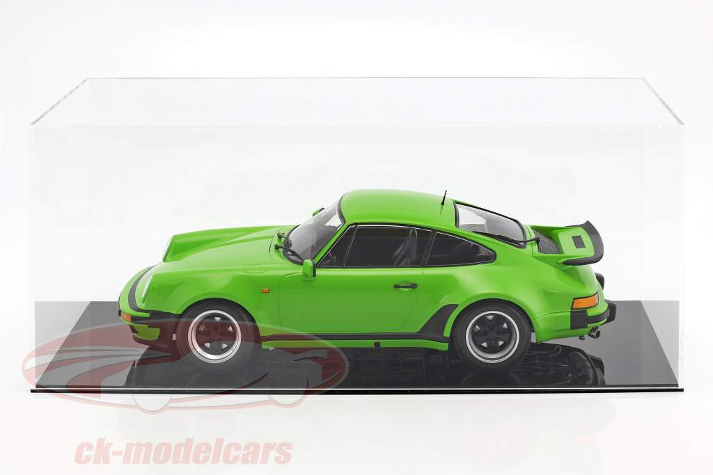hoog kwaliteit vitrine voor 1 Modelcar in schaal 1:12 of 2 modelauto's in schaal 1:18 zwart SAFE