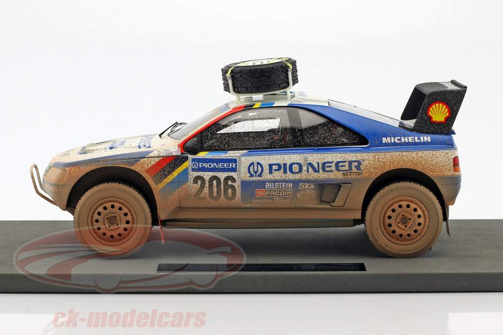 Peugeot 405 T16 Dirty Version #206 2 Paris - Dakar 1989 Ickx, Tarin 1:18 TopMarques