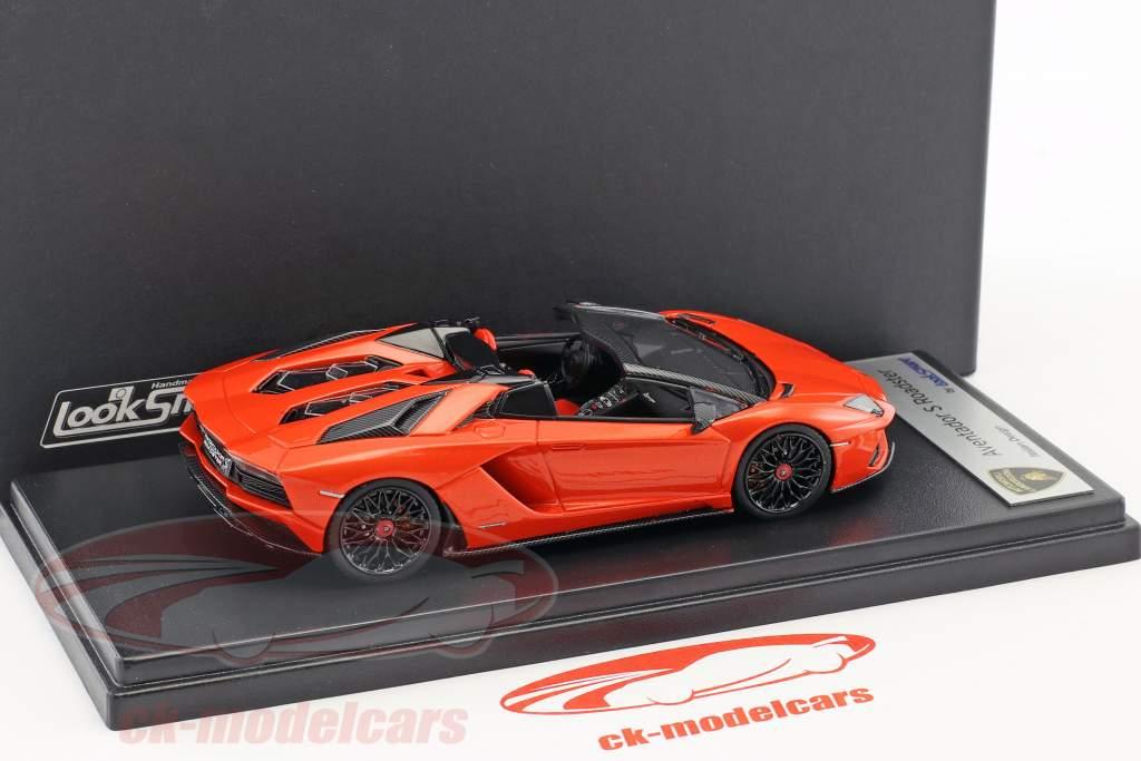 Lamborghini Aventador S Roadster Baujahr 2016 orange metallic 1:43 LookSmart