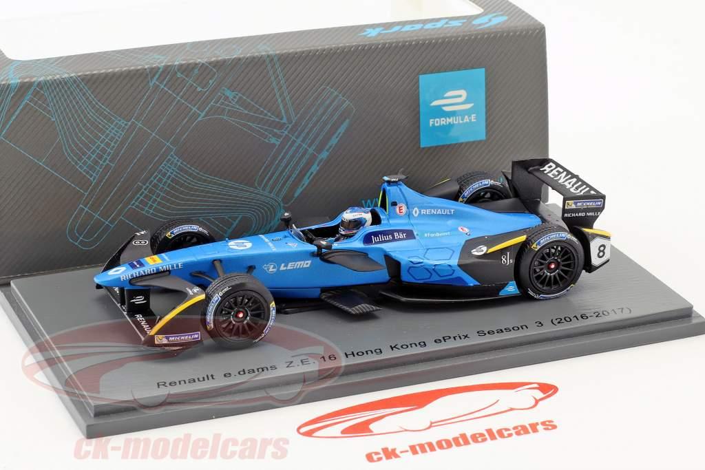Nicolas Prost #8 Hong Kong ePrix Season 3 Formel E 2016/17 1:43 Spark