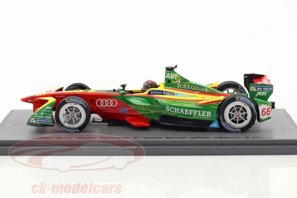 Daniel Abt ABT Schaeffler FE02 #66 Berlin ePrix formule E 2016/2017 1:43 Spark